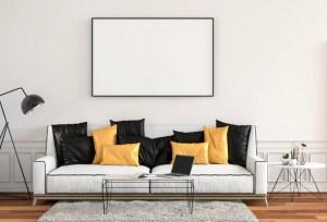 background living frame interior poster modern mock render 3d hipster premium