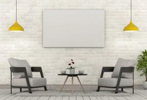 background interior living modern frame mock poster hipster premium presentation vector