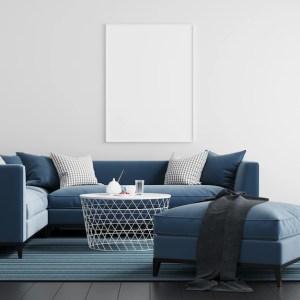 mock background living frame interior poster premium freepik