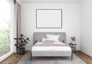 bedroom empty frame horizontal artwork cornici premium vettori moderno bed moderna freepik