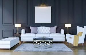 background luxury living 3d interior rendering poster mock frame classic modern premium