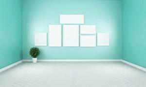 living empty modern interior 3d wall blank freepik navamin premium mint rendering tv