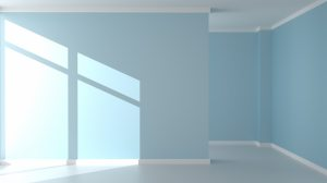 empty background living interior wall modern rendering 3d premium mockup mint