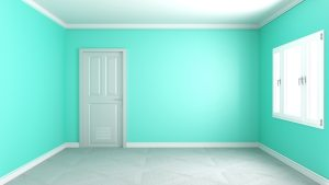 empty living background interior 3d modern wall mint mockup premium freepik rendering