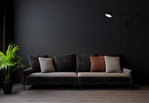 living dark interior premium rendering scandinavian modernen skandinavischer wohnzimmers moderner dunkle wand hintergrund stil tức tin