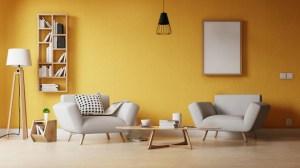 living wall empty modern poster premium