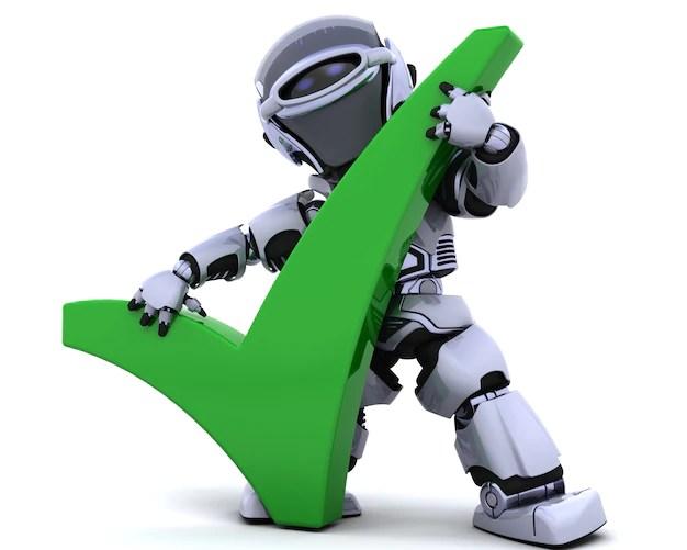 シンボルとロボットのレンダリング3dは 無料写真