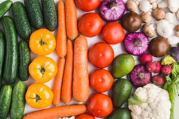 新鮮な野菜の盛り合わせ 無料写真
