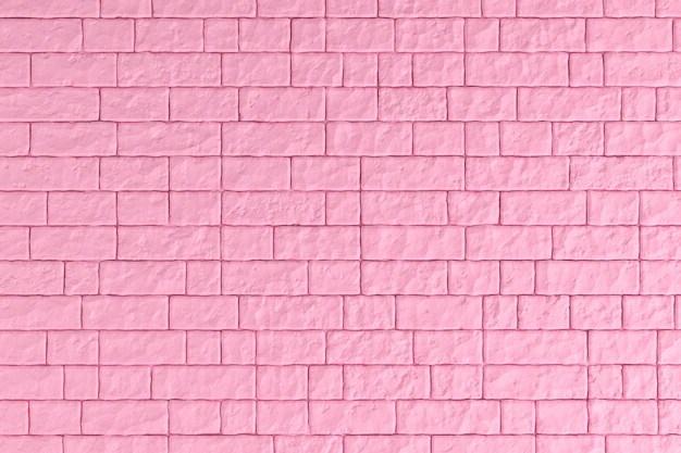 a pink brick wall
