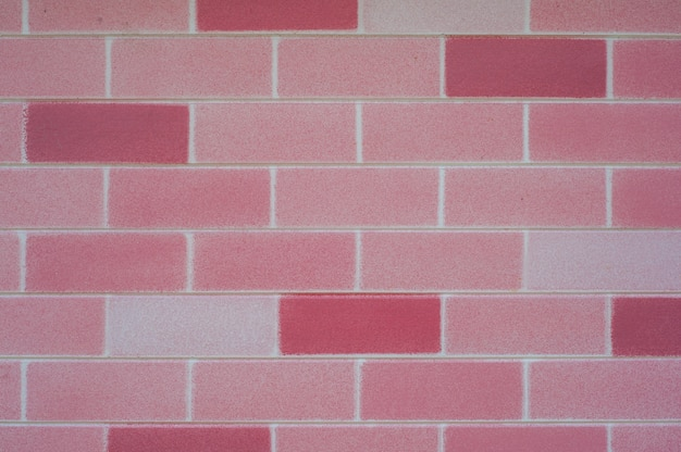 pink brick wall for