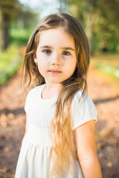 portrait of a cute