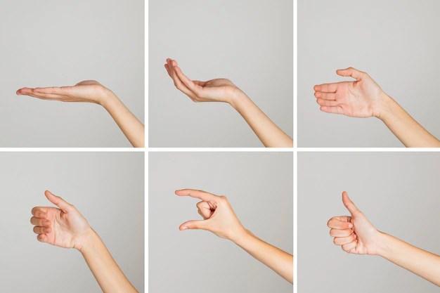 random hand gestures photo