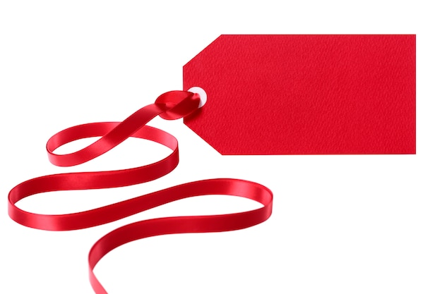 Red Tag With A Red Ribbon Photo Free Download