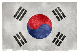 South korea grunge flag  blue Free Photo