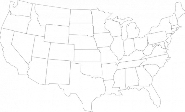 States geography united america usa map outline Photo