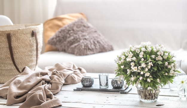 Still life interior details in the living room and decor Free Photo