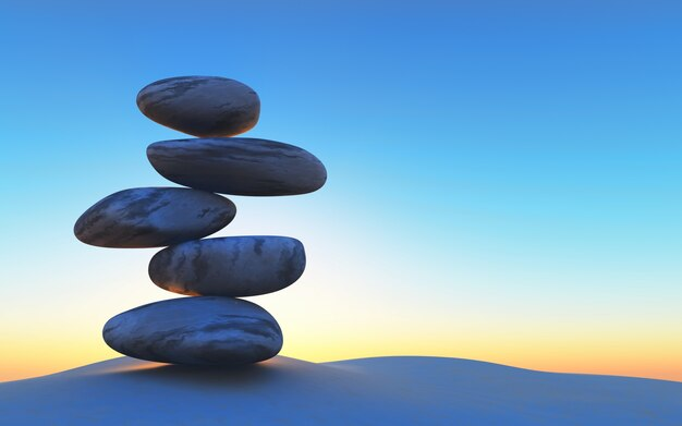 stones in perfect balance