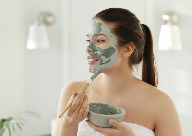 Woman with facial mask for skin care. beauty concept. Free Photo