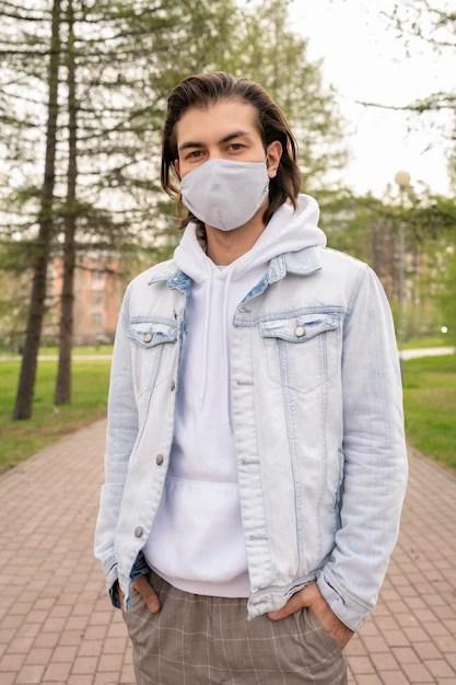 Denim jacket with hoodie