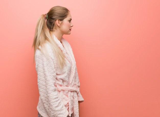 young russian woman wearing
