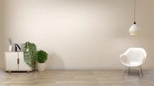 empty living background wall zen decoration japan premium
