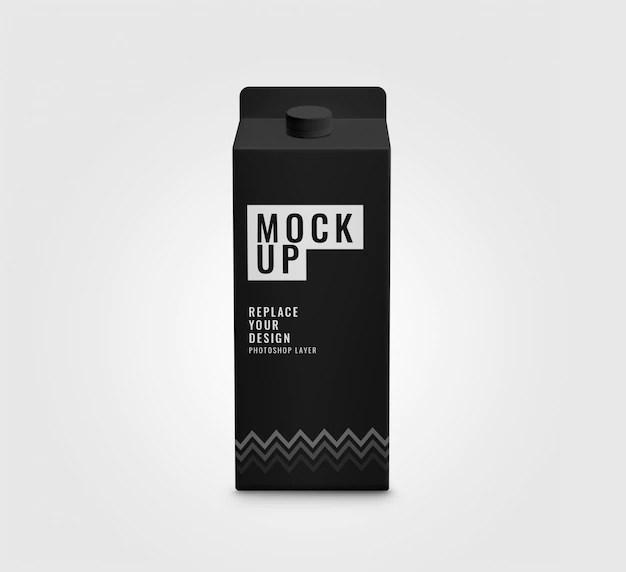 Download Premium PSD | Black box mockup