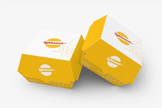 Download Premium PSD | Burger box mockup