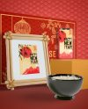 Free Psd Chinese New Year Illustration With A Bowl Of Rice