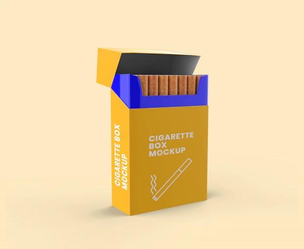 Download Premium PSD | Cigarette box mockup