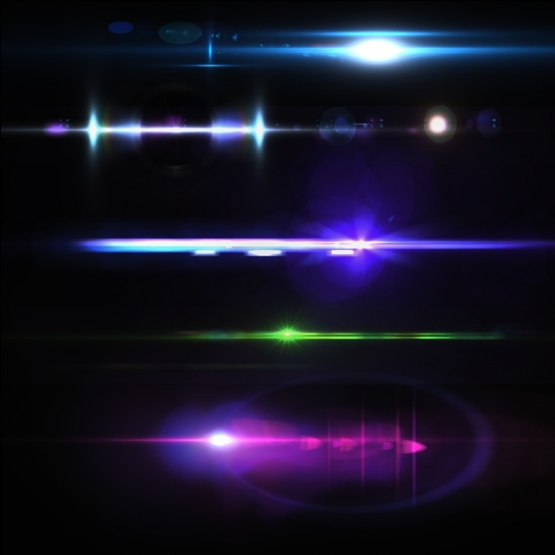 coloured lights collection psd