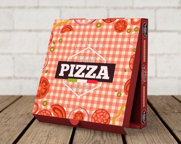Download Free PSD | Creative pizza box mockup