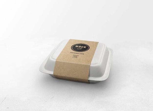 Download Delivery food box mockup | Premium PSD File