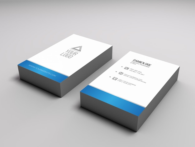 Download Free Vertical Business Card Mockup Psd Yellowimages
