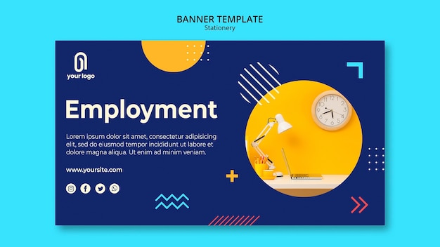 Employment Concept Banner Web Template Free Psd File