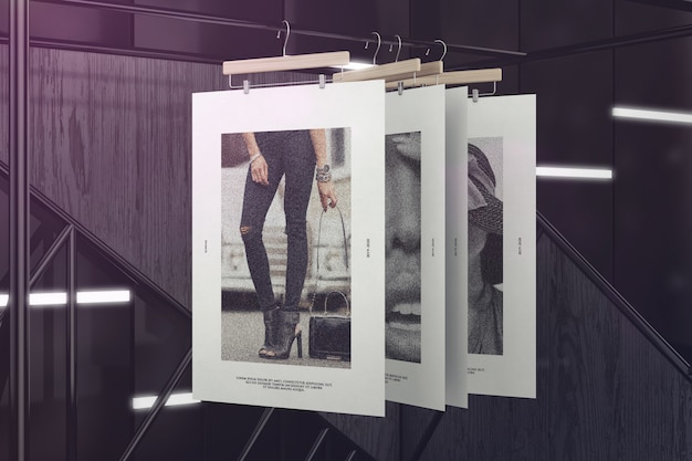 Download Hanging Poster Mockup Free Psd Yellowimages