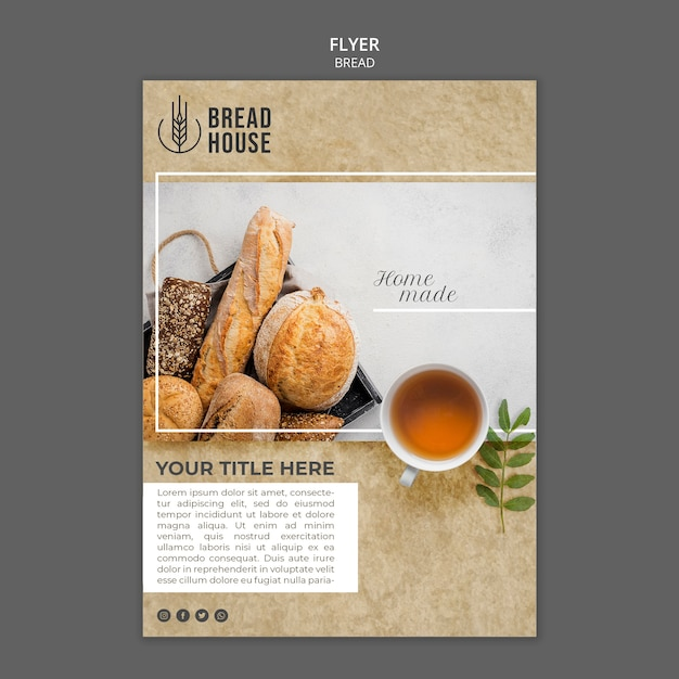 Free Psd Freshly Baked Bread Poster Template