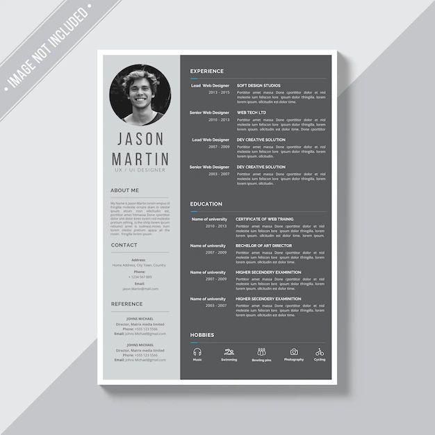 cv profile template