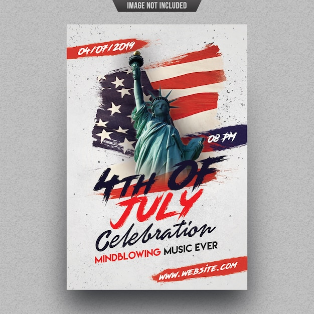 Independence day party flyer template Premium Psd