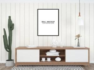 living floor psd mockup furniture interior minimalist copy premium space template achtergrond woonkamer interieur muur moderne freepik