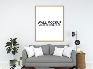 background living furniture psd copy interior template floor mockup minimalist premium space