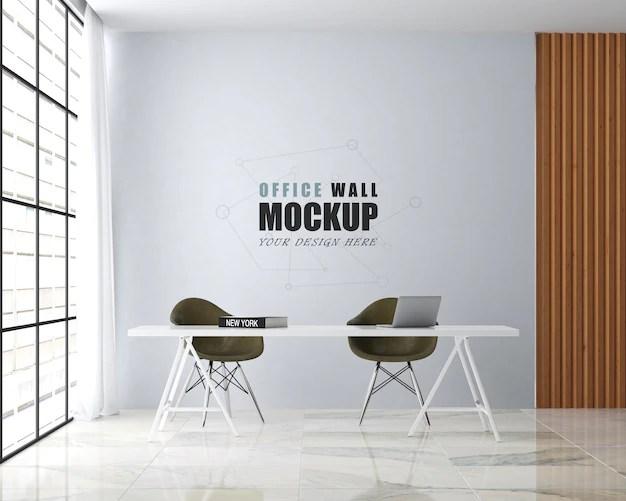 Premium Psd Modern Style Office Design Wall Mockup