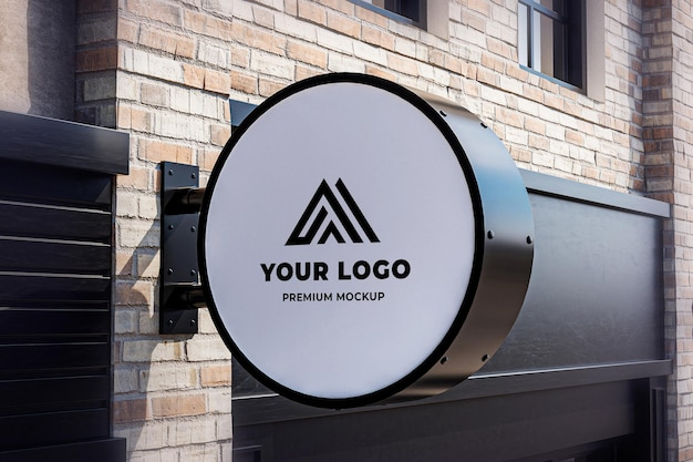 It will allow you to present your typographic. Premium Psd Neon Box Mockup Circle Shop Hanging Sign Brick Wall Realistic