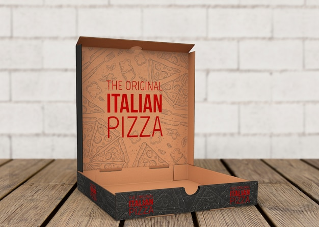 Download Open pizza box mockup PSD file | Free Download
