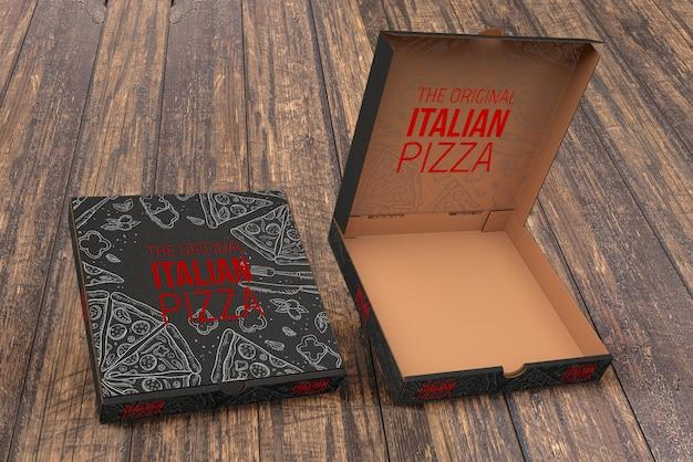 Download Open pizza box mockup | Free PSD File