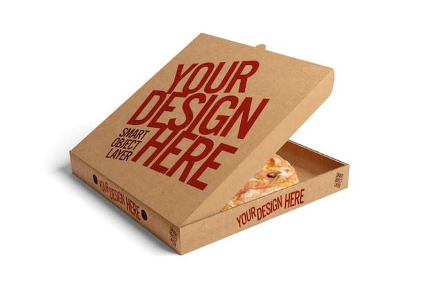Download Premium PSD | Pizza box mock up