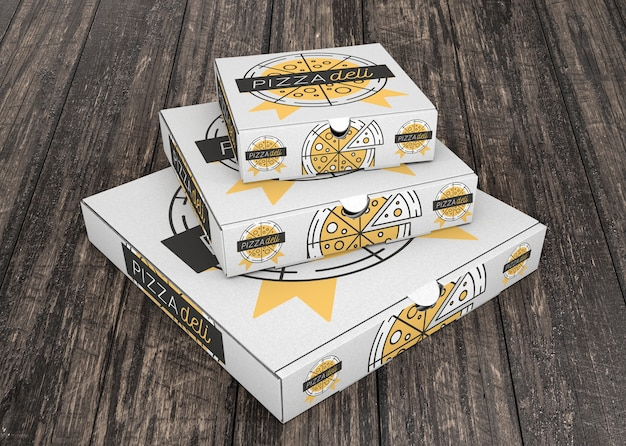 Download Stacked pizza box mockup | Free PSD File