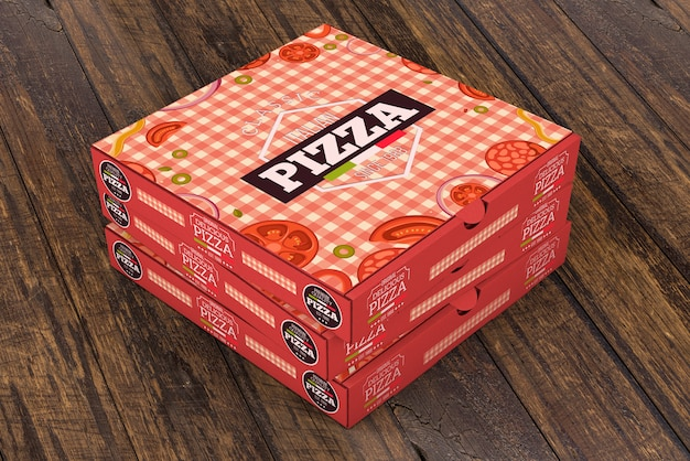 Download Stacked pizza boxes mockup PSD file | Free Download