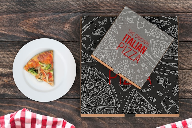 Download Top view pizza boxes mockup PSD file | Free Download