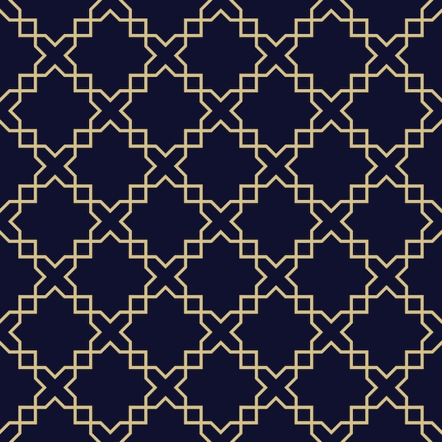 abstract arabic seamless pattern