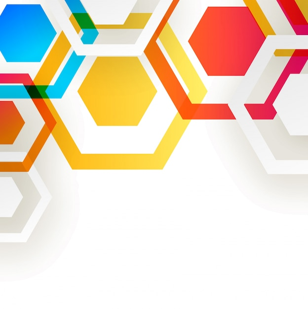 abstract background with hexagonal
